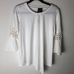 Tops - NWT New Directions ivory knit top size s